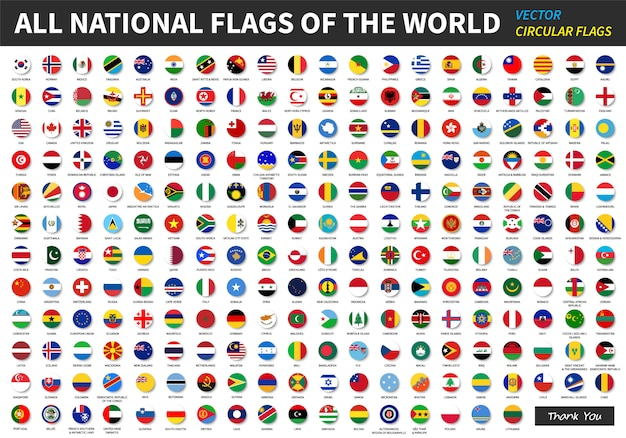 Все официальные национальные флаги мира.