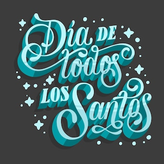 All saints day lettering on dark background