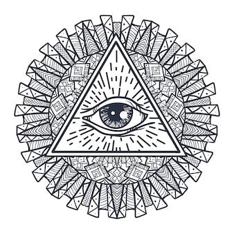 삼각형과 만달의 모든 보는 눈