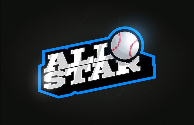 All star modern professional typography baseball sport retro style emblem logo .