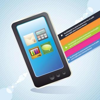 Все приложения на вашем смартфоне синий фон Premium векторы
