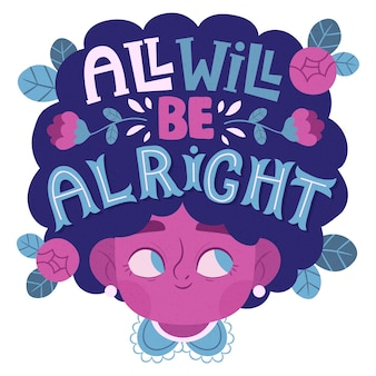 All will be alright lettering