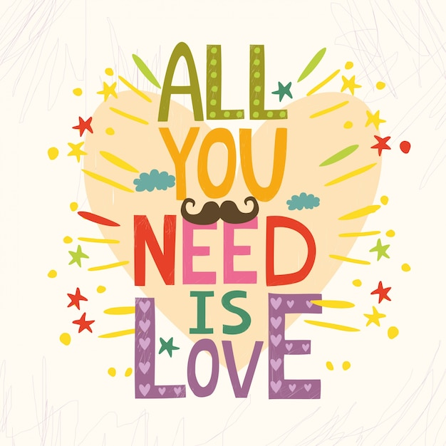 Free All You Need Is Love Svg Dxf Eps Png Best Free Svg Cut Files