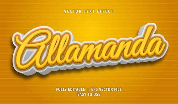 Allamanda text effect, editable text style