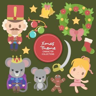Allen christmas winter characters