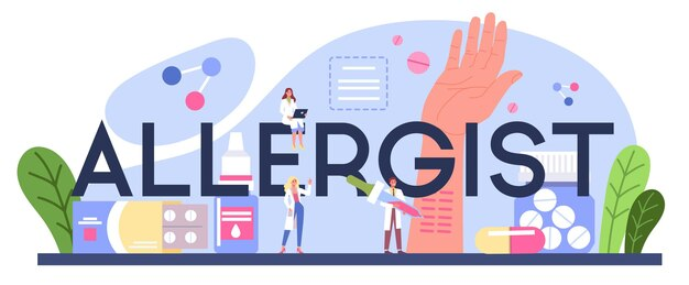 Типографский заголовок аллерголога