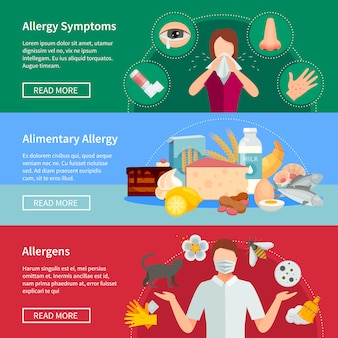 Allergy horizontal banners