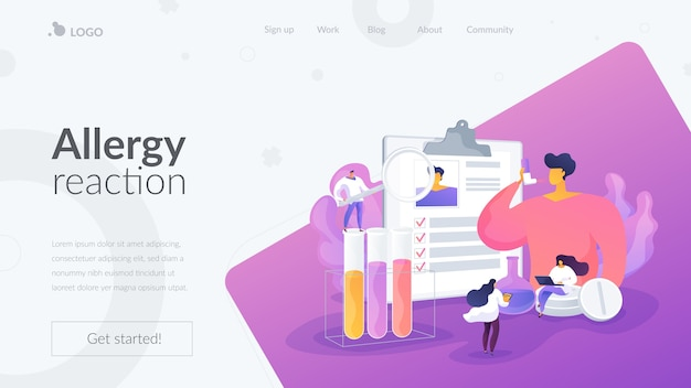 Allergy reaction landing page template