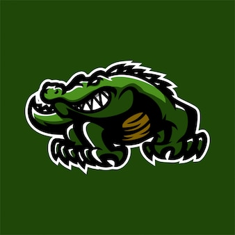 Alligator crocodile esport gaming mascot logo template