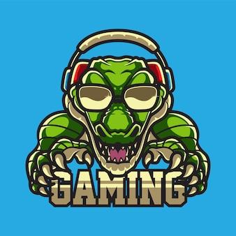 Аллигатор геймерс логотип