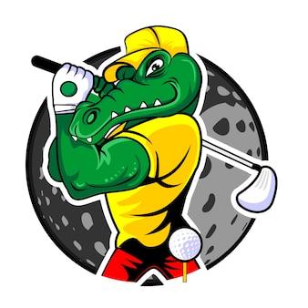 Alligator golfer