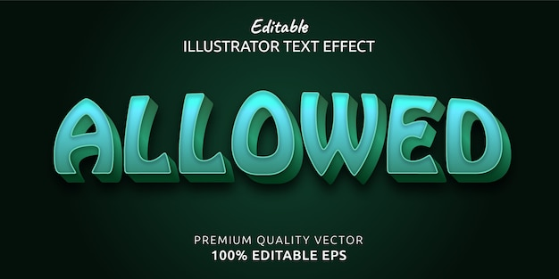 Allowed editable text style effect