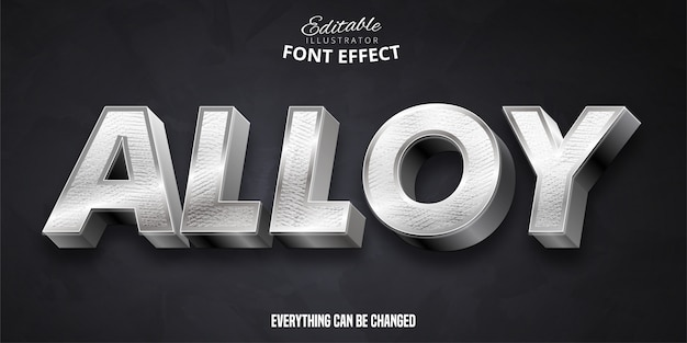 Alloy text,  editable font effect