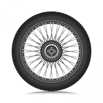 Alloy wheel with tire