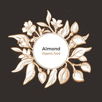 아몬드 유기농 식품 라벨