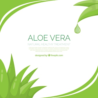 Aloe vera abstract background