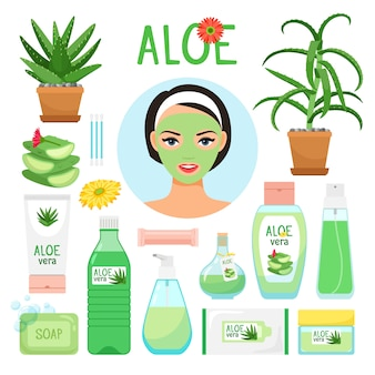Aloe vera cosmetic products