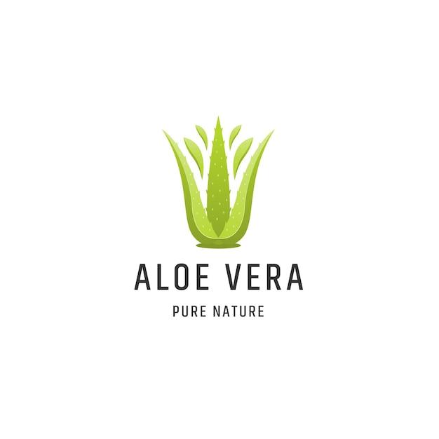 알로에 베라 녹색 자연 로고 디자인 서식 파일