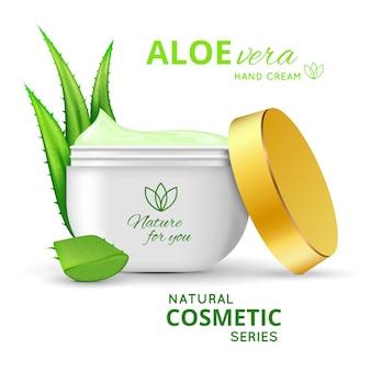 Aloe vera hand cream design