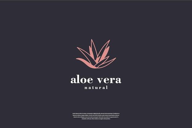 알로에 베라 로고 디자인 영감