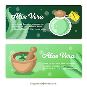 Aloe vera products banner
