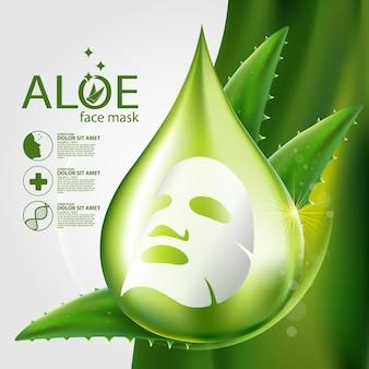 Aloe vera realistic plant skincare cosmetic