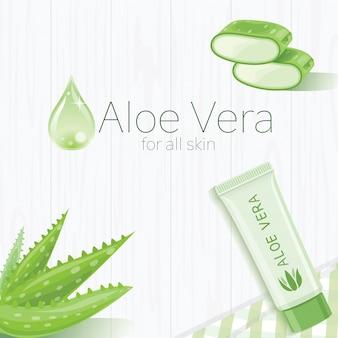 Aloe vera template design