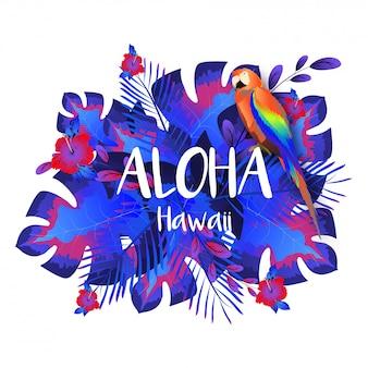 Aloha hawaii party template