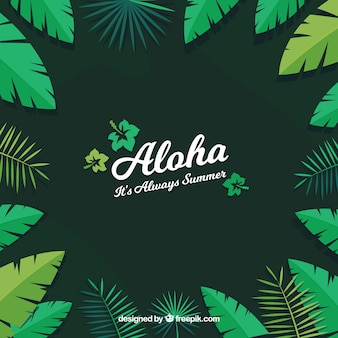 Aloha leaves background