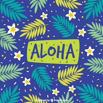 Aloha pattern background