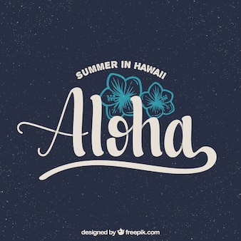 Aloha vintage background