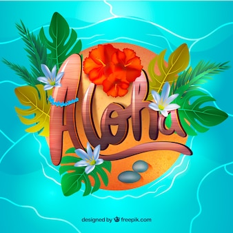 Aloha water background