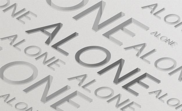 Aloneメッセージのタイポグラフィの背景