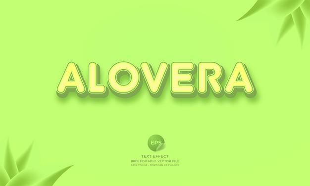 Редактируемый текстовый эффект alovera