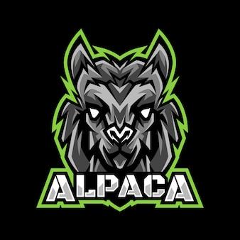 Alpaca head mascot logo esport