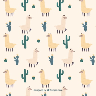 Alpaca pattern background