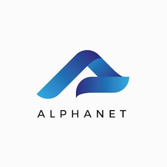알파 a 편지 로고 디자인 서식 파일