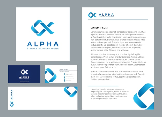 Alpha geometric logo template