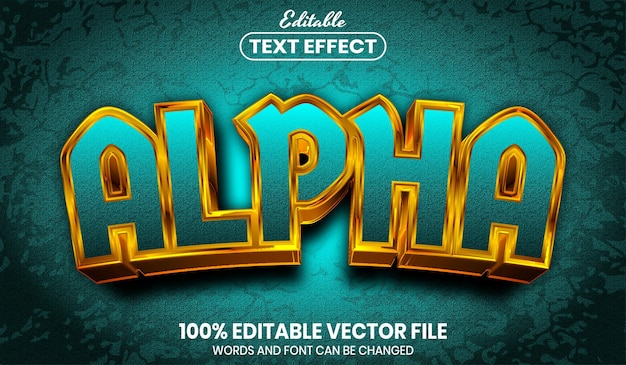 Alpha text, editable text effect