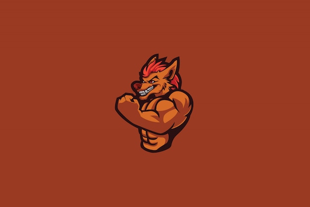 Alpha wolf e sports logo