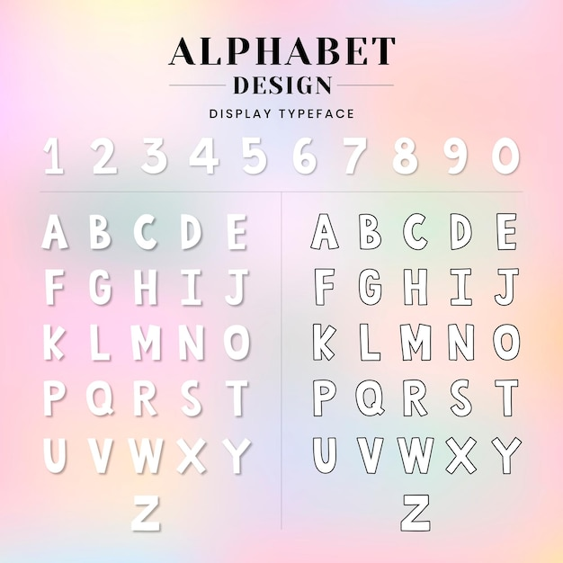 알파벳과 숫자 세트