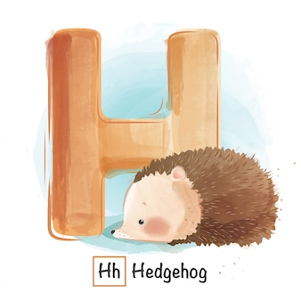 Alphabet animal - h