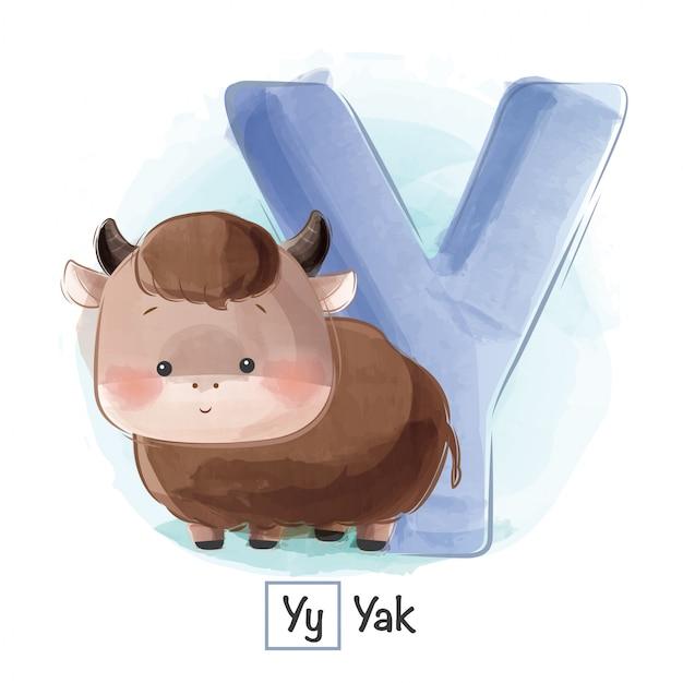 Alphabet animal - y