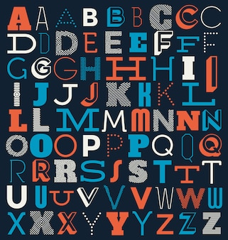 Alphabet background design