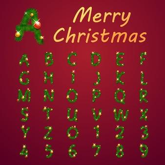 アルファベットクリスマススタイル