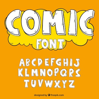 Alphabet in comic style