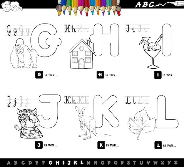 Alphabet educational set for children color book