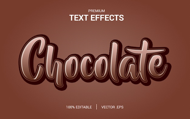 Alphabet font coffee chocolate typography text logo brand, with modern typeface text effect