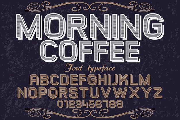 Alphabet font design morning coffee
