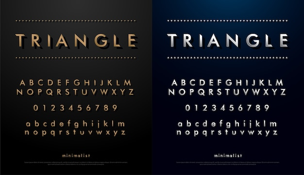 Alphabet font from triangle concept